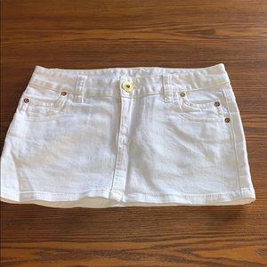 Mini White guess skirt